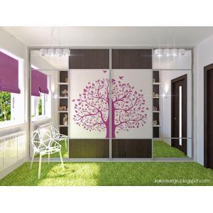 Tree decal girl bedroom