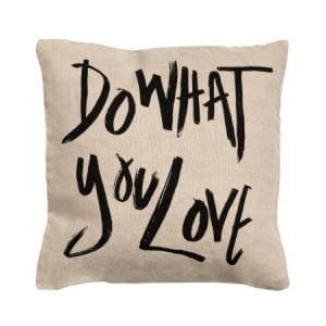 Cushion cover with Text