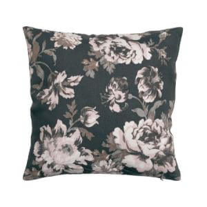 Flower-patterned cushion cover